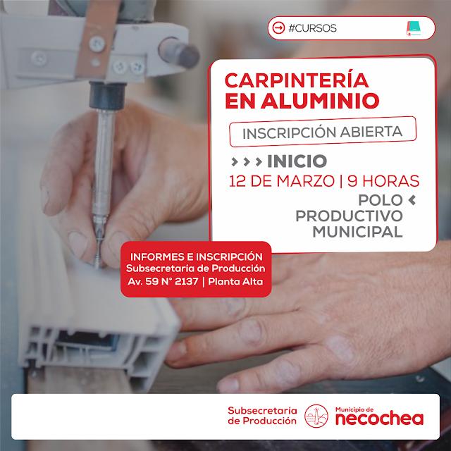 Producción organiza nuevo curso sobre Carpintería en Aluminio + INFO