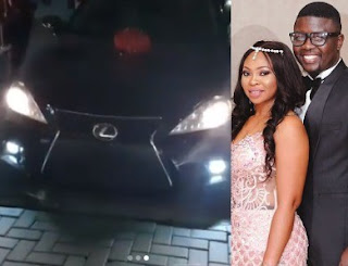 Comedian Seyilaw surprises his wife with a Lexus on her birthday