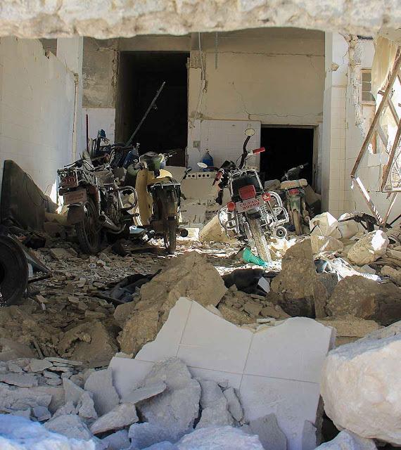 O alvo foi um hospital que foi destruído em Khan Cheikhoun, matando muitas crianças
