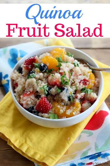 This super food Quinoa Fruit Salad can be used as a dessert or breakfast. An easy way to get in your daily healthy eats.