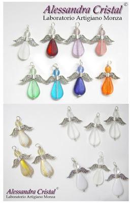 ciondoli angelo colorati segnalibri metallo