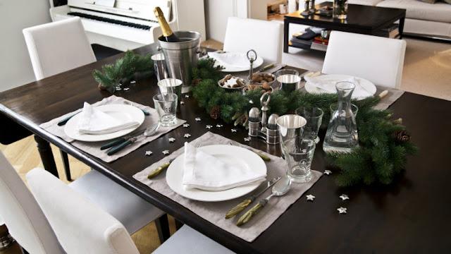 Decoração de Natal preto e branco