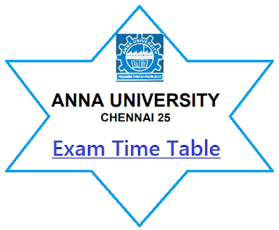 Anna University Exam Time Table April 2020