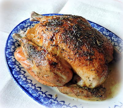 Roast Chicken with Lemon & Garlic