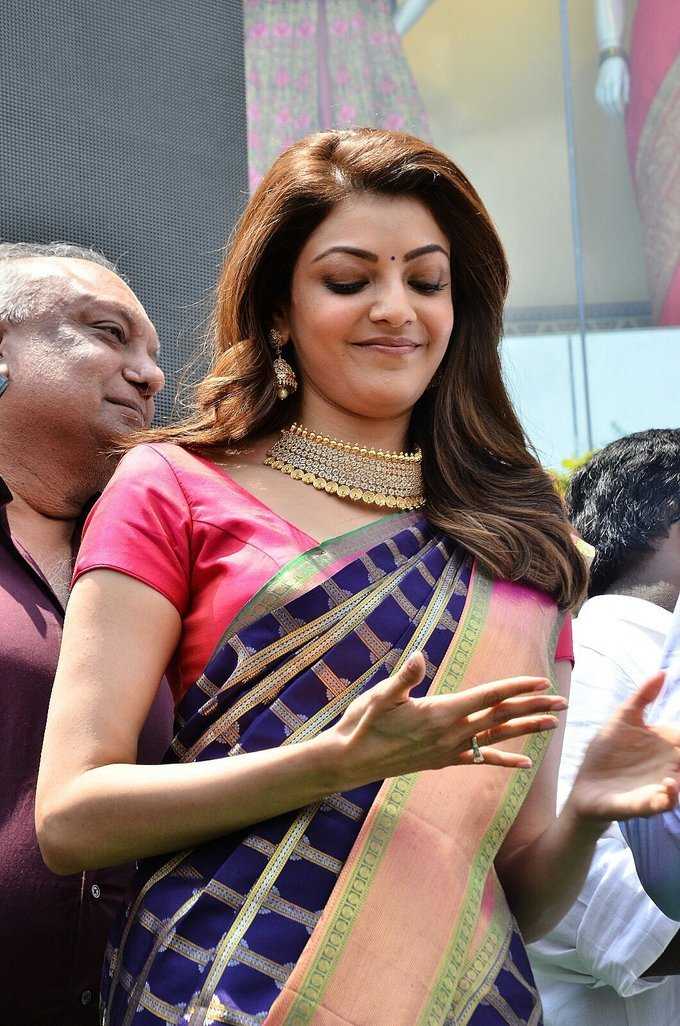 Kajal at Chennai Shopping Mall Opening Event Photo Gallery