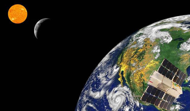 عين مسبار رافان على الأرض والقمر والشمس