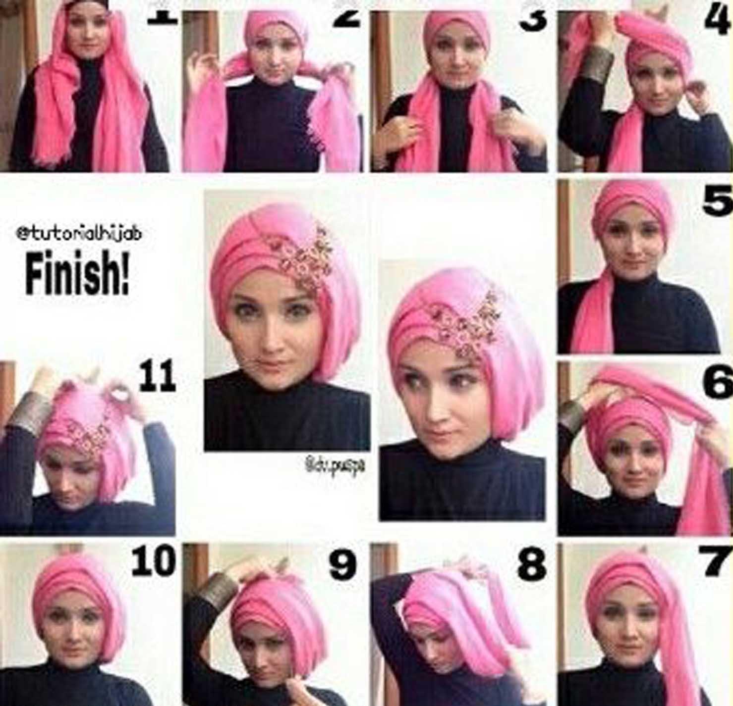 Tutorial Hijab Pashmina Turki Sejutahijab