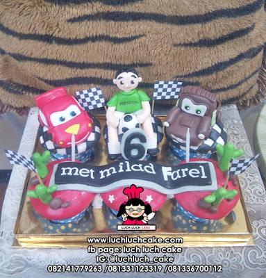 Birthday Cupcake Cars Mcqueen