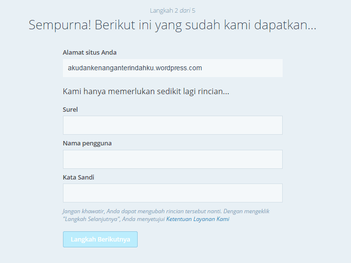 Belajar bikin blog di wordpress