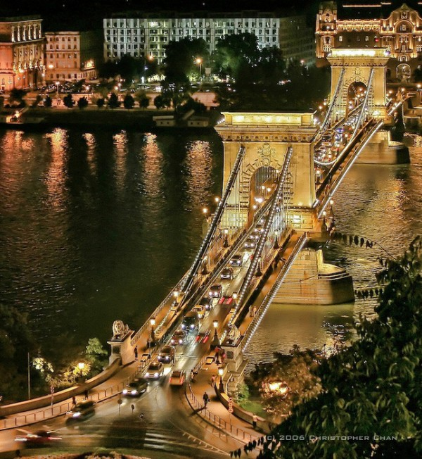 The Szechenyi Chain Bridge, Budapest, Hungary by Christopher Chan