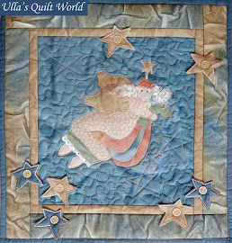 Angel quilt wall hanging - sun dyeing