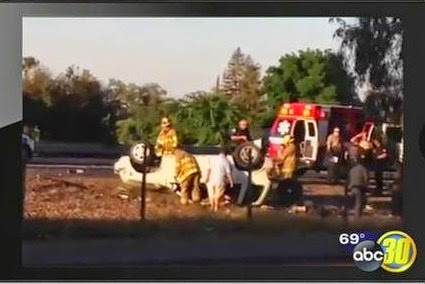 visalia suv crash overturned vehicle highway 198 lovers lane