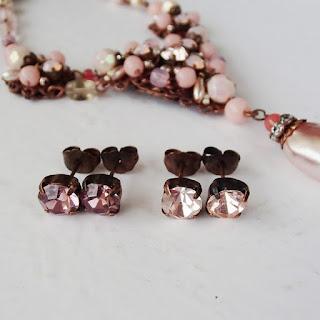 crystal stud earrings with Swarovski rhinestones