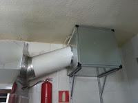 sacar motor campana extractora a caja de extracción