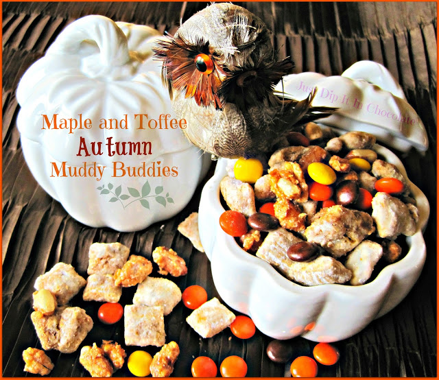 Maple and Toffee Autumn Muddy Buddies by Just Dipped in Chocolate
