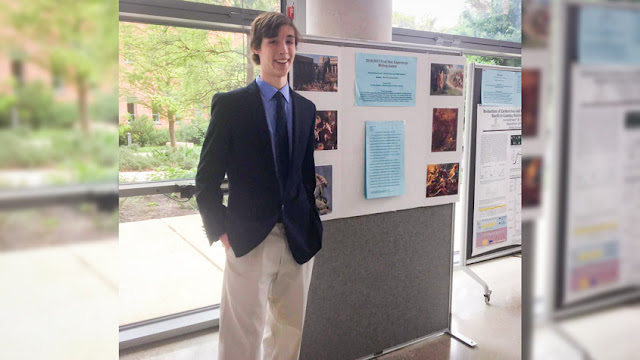 Trinity student Zack Carter