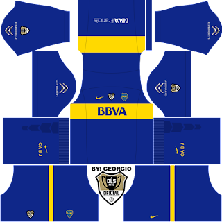 baju timnas kits dream league soccer boca junior