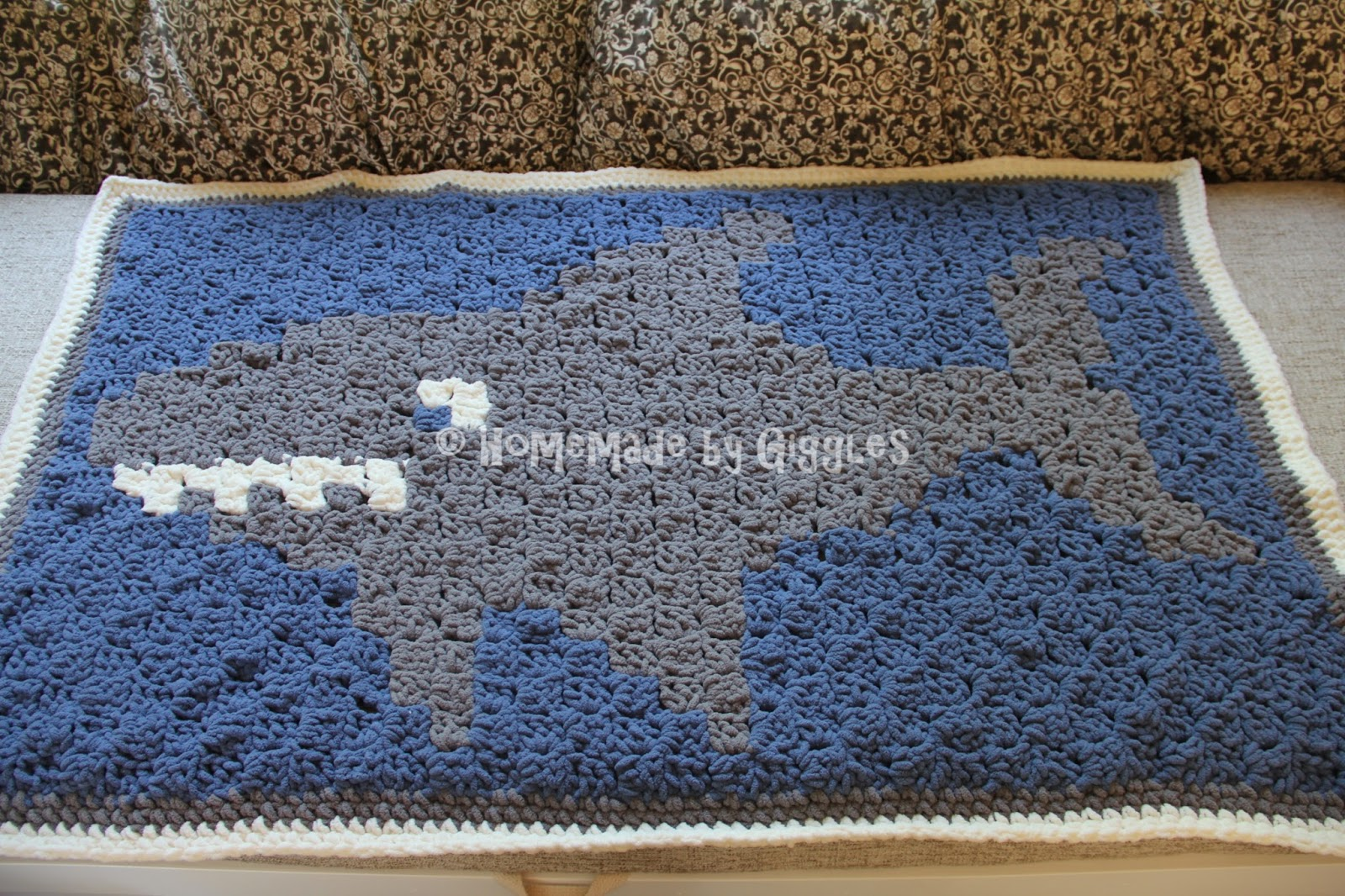 Homemade By Giggles Shark Graphghan Free Crochet Pattern