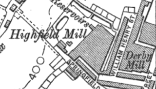 Derby Mill, OS map, 1910.