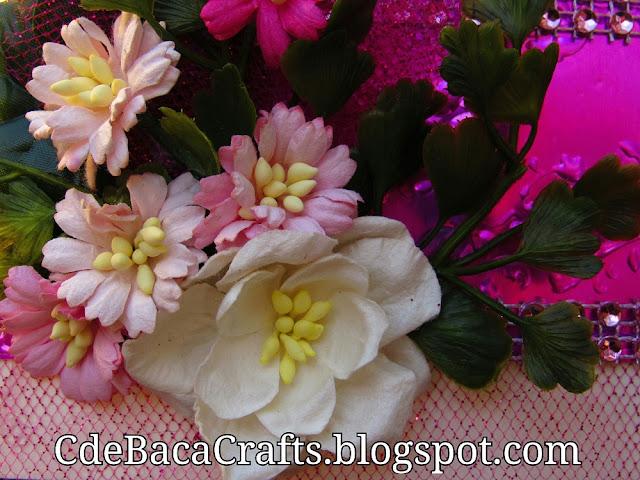 Pink Valentine's Day card by CdeBaca Crafts.