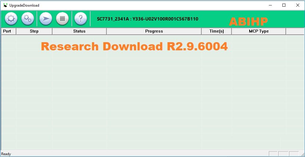 Lakukan proses flashing dengan menggunakan versi Research Download R2.9.6004.