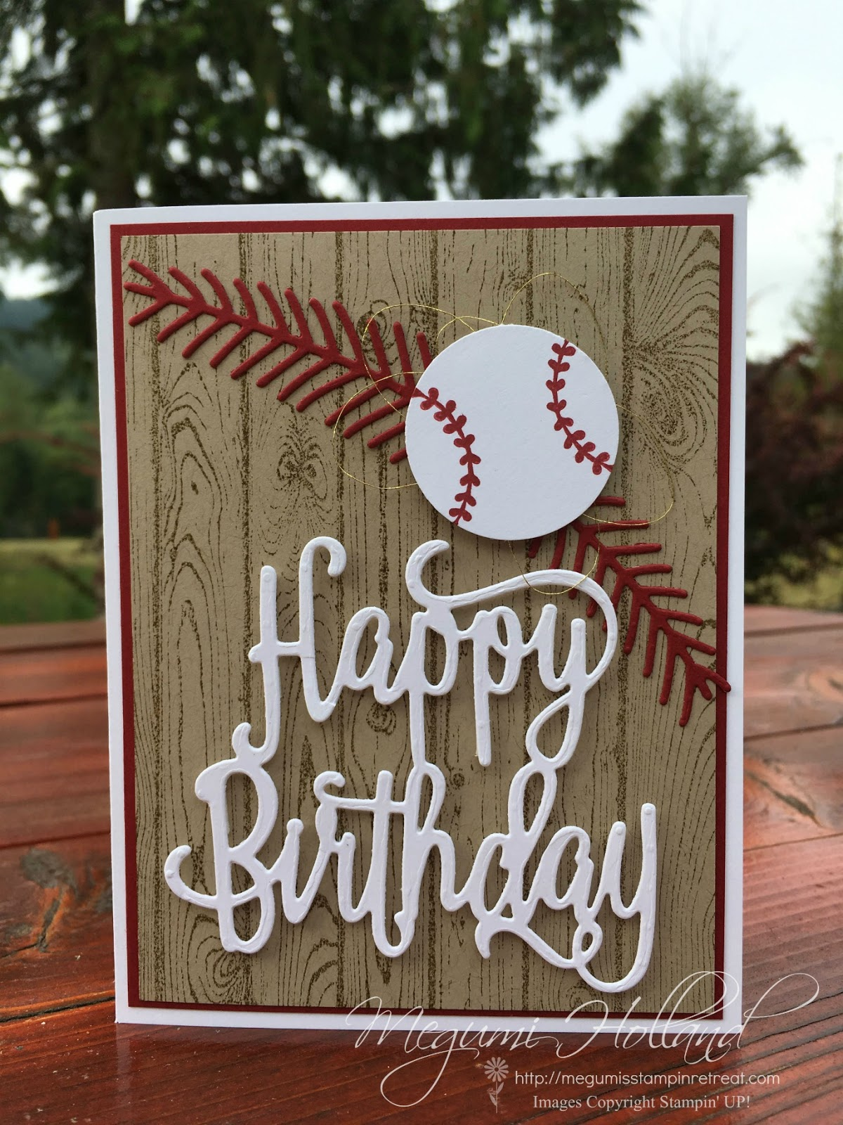 Megumi\'s Stampin Retreat: Christmas Pines Baseball Cards