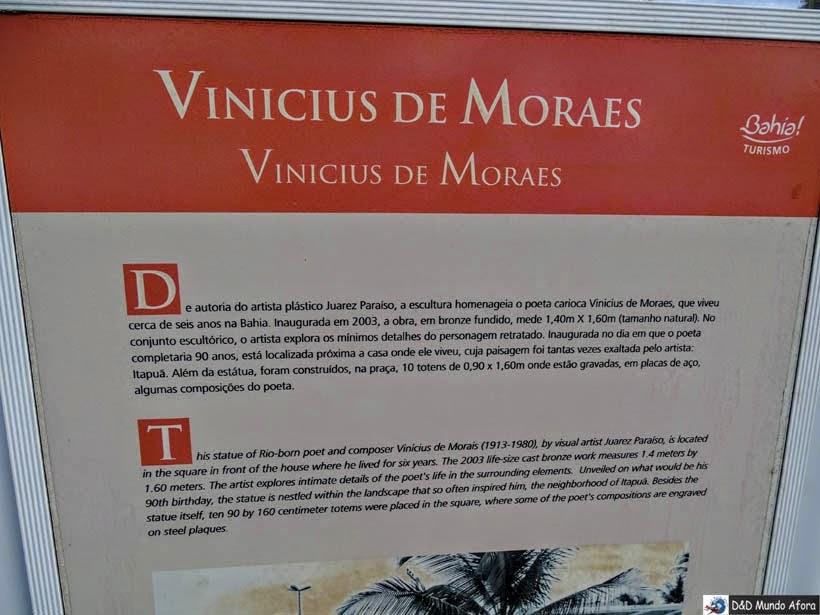 O que fazer em Salvador (Bahia) - Praça Vinícius de Moraes - Praia de Itapuã
