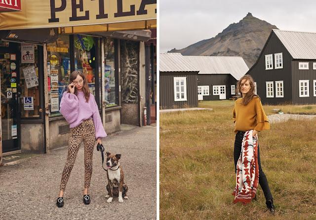 Сиреневый и желтый свитер оверсайз с джинсами скинни с леопардовым принтом