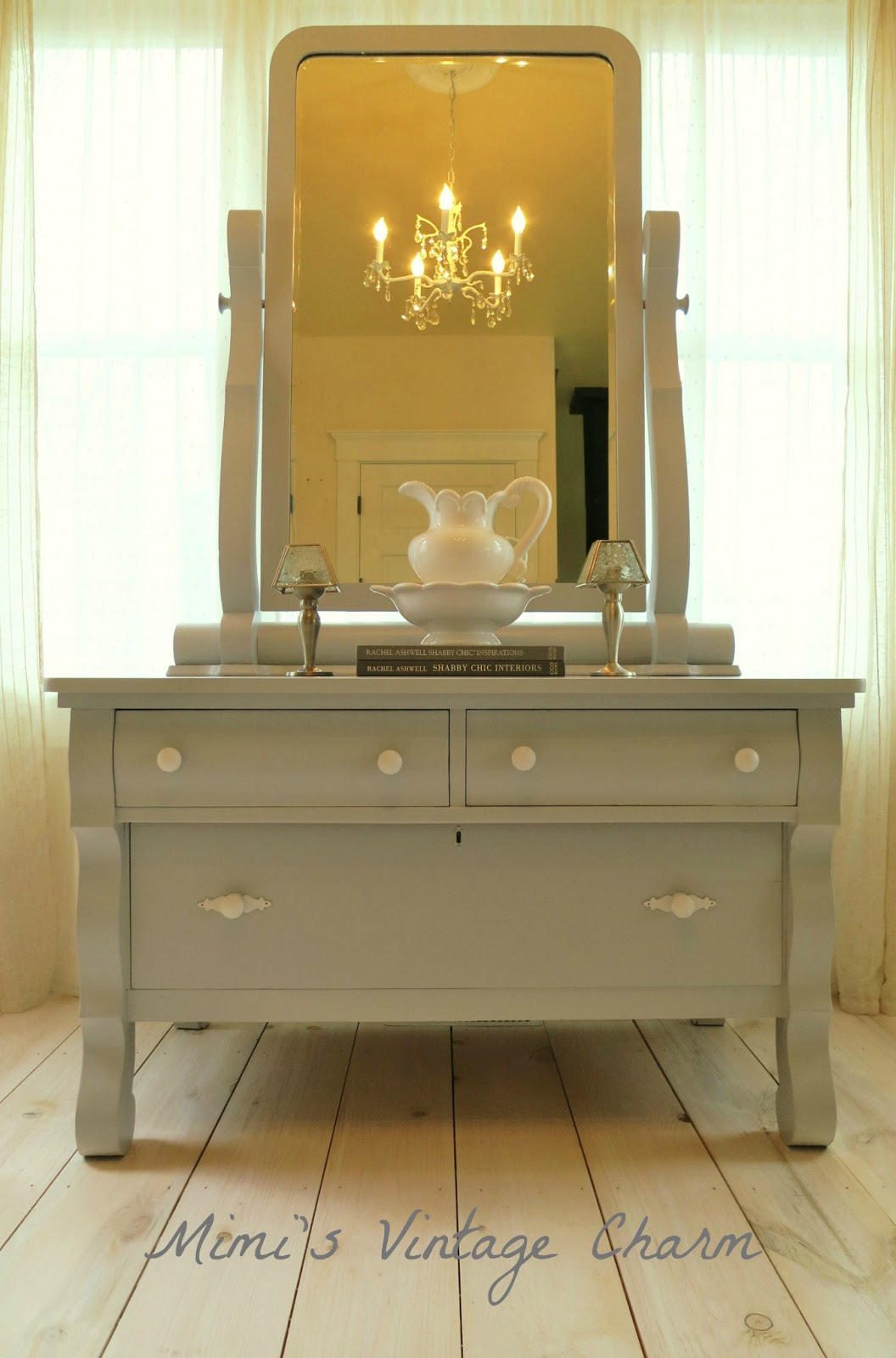 Mimi 39 s vintage charm april 2013 - Bathroom vanities made from old dressers ...