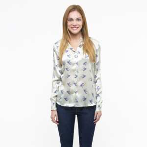 PELICANS SLIM FIT SILK SHIRT