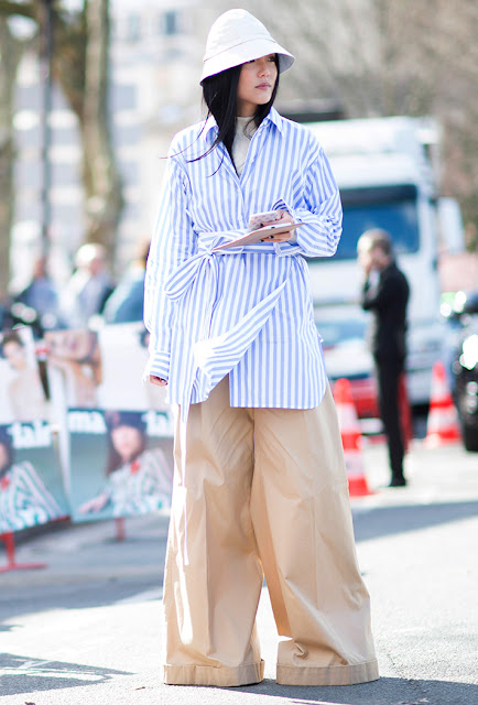 shirting, wide leg pants, fall 2016, street style, spring 2016, trends, fashion week, NYFW, PFW, LFW, new york fashion week, paris fashion week, london fashion week