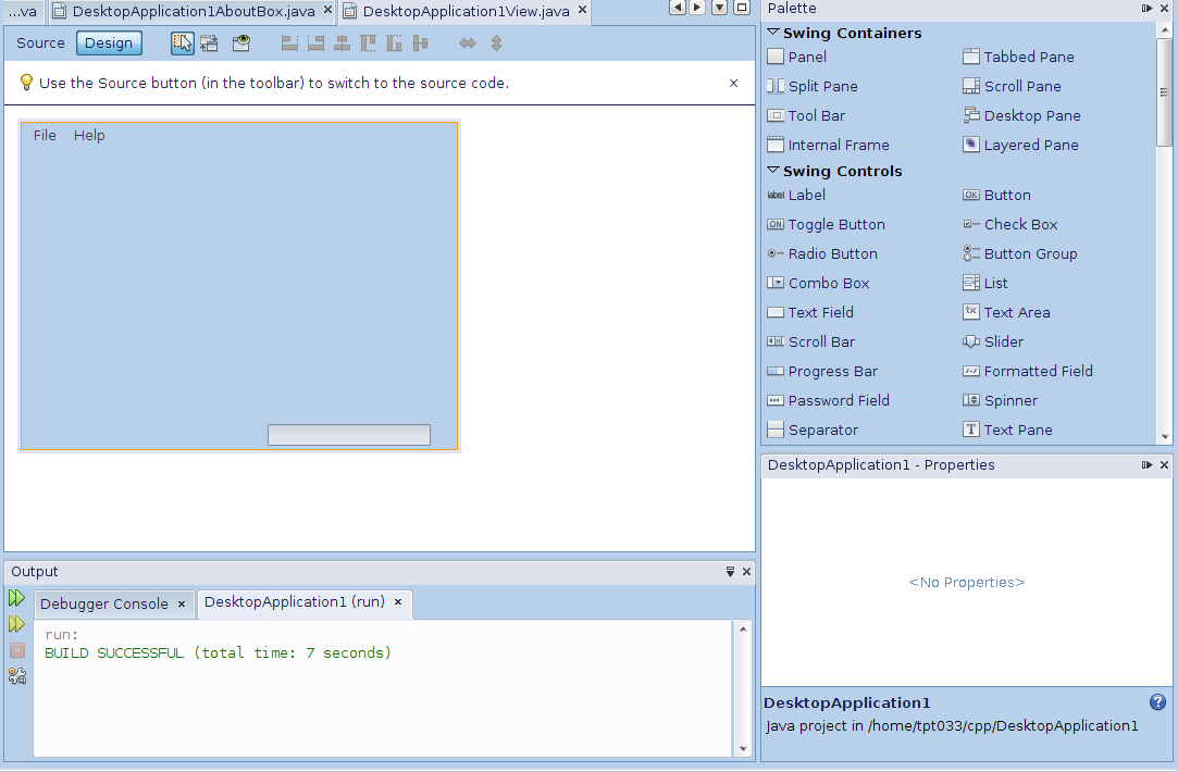 How to Design the GUI for java application easily   Java Forum