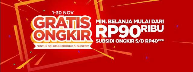 Program GRATIS ONGKIR Shopee Bulan November