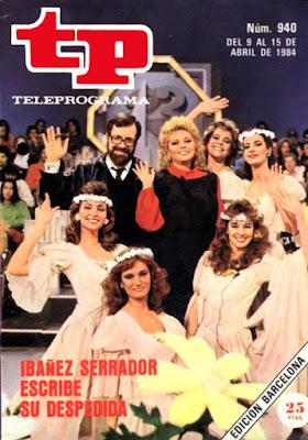 Portada de la revista Teleprograma de abril de 1984 donde anuncia el final del concurso 'Un, dos, tres'