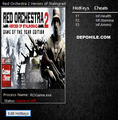Red Orchestra 2 Heroes of Stalingrad (PC) Can,Mermi Trainer Hile