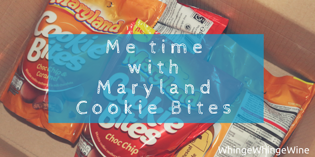 Attempting a bit of mum's 'Me Time' (and failing). I (we) review new Maryland Cookie Bites in Choc Chip and Choc Chip & Caramel #marylandmagic
