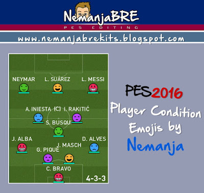 PES 2016 Player Condition Emojis by Nemanja