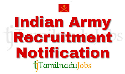 Indian army recruitment 2018, army jobs 2018 10th pass