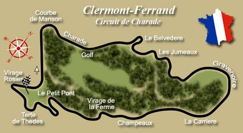 club5a les circuits automobiles de legende le circuit de charade. Black Bedroom Furniture Sets. Home Design Ideas