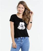 Moda Marisa Blusa Feminina Estampa Mickey Disney