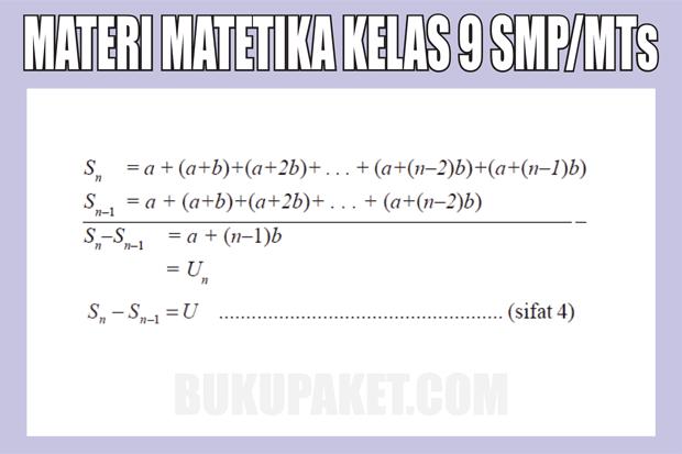 Materi Pelajaran Matematika Kelas 9 SMP/MTs Semester 1/2