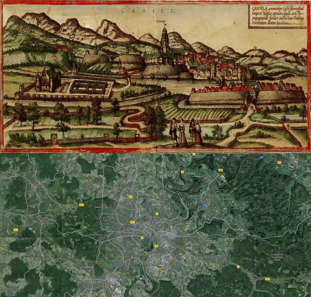 Old Cities Old Maps - Germany map then and now
