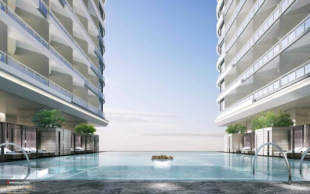 tiện ích bể bơi vô cực tại dự án La Luna Resort
