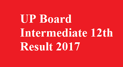 UP Board Intermediate 12th Result 2017