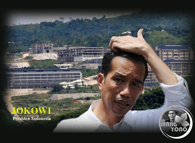 Ilustrasi : Presiden Jokowi sidak ke Hambalang, mega proyek yang mangkrak