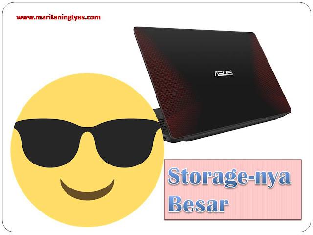Storage ASUS X555QA Besar