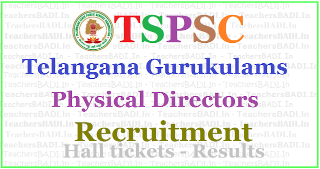 TSPSC Gurukulam PDs Recruitment 2017, Apply online,hall tickets,results