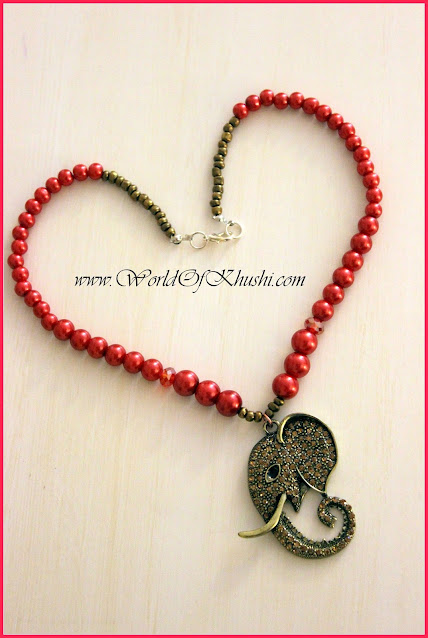 How To Make Ganesha Necklace | DIY