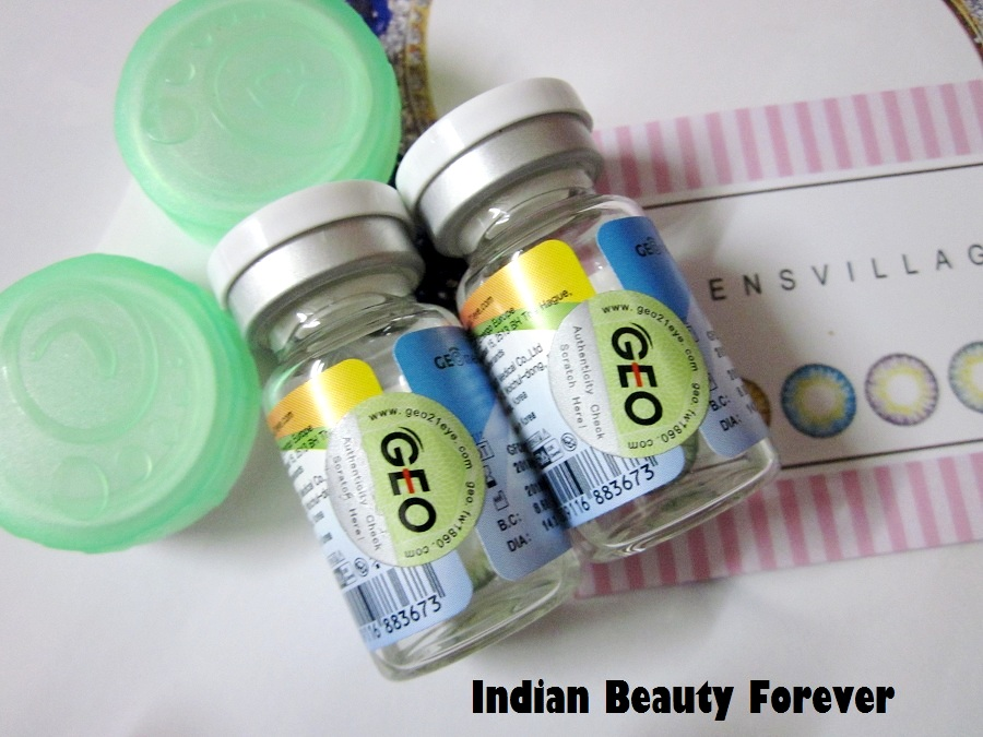 GEO Tri color contact lenses in Green Review