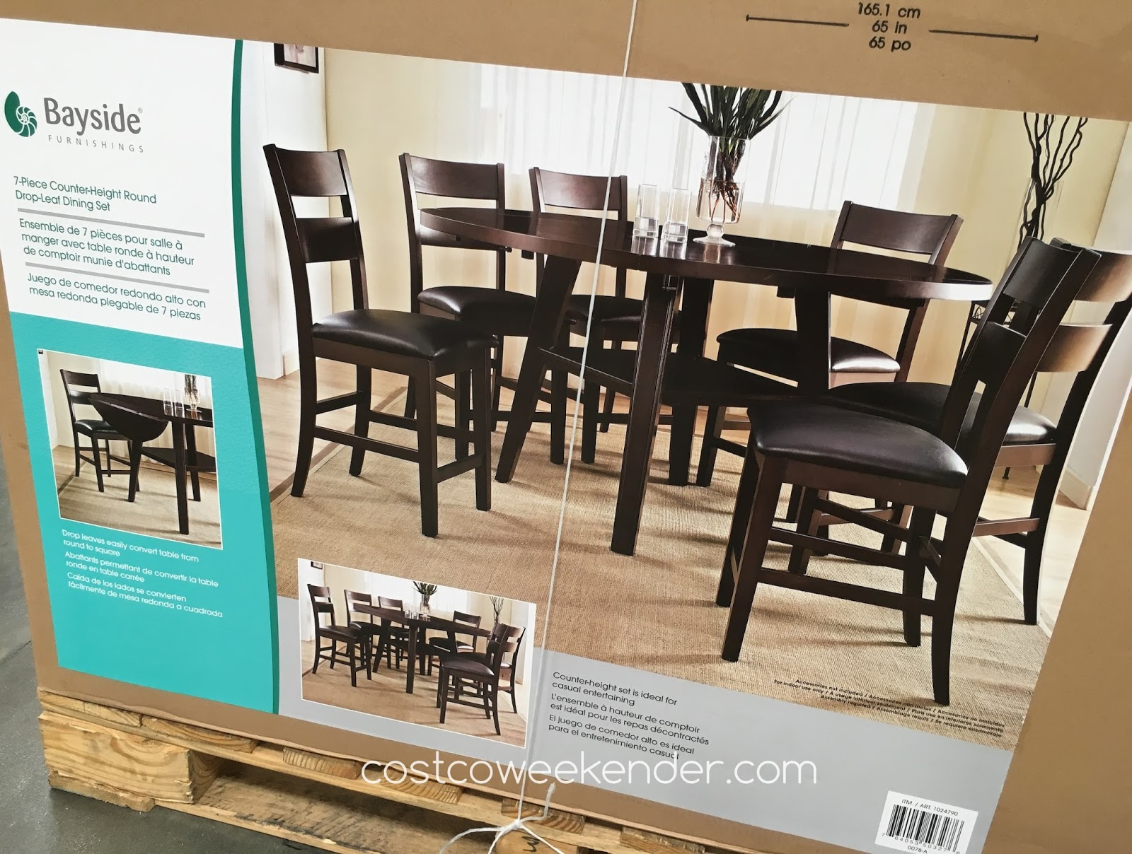 Bayside furnishings 7 piece square to round dining set costco weekender - Costco dining room set ...